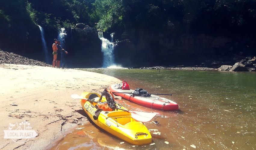 Remada no Rio Iguaçu em Foz do Iguaçu