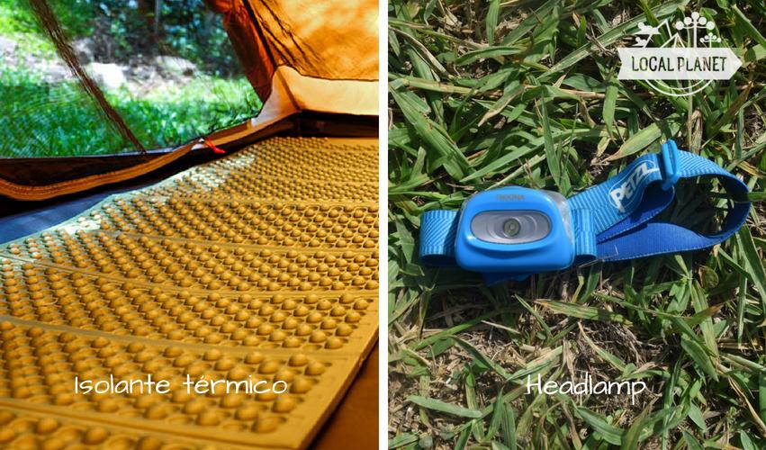 O que levar para acampar: isolante térmico e headlamp