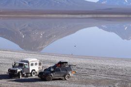 Viagem de carro no Deserto do Atacama