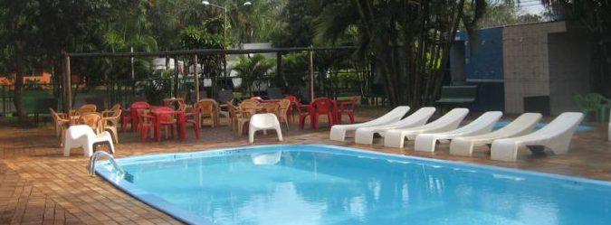 Piscina do Hostel Paudimar em Foz do Iguaçu