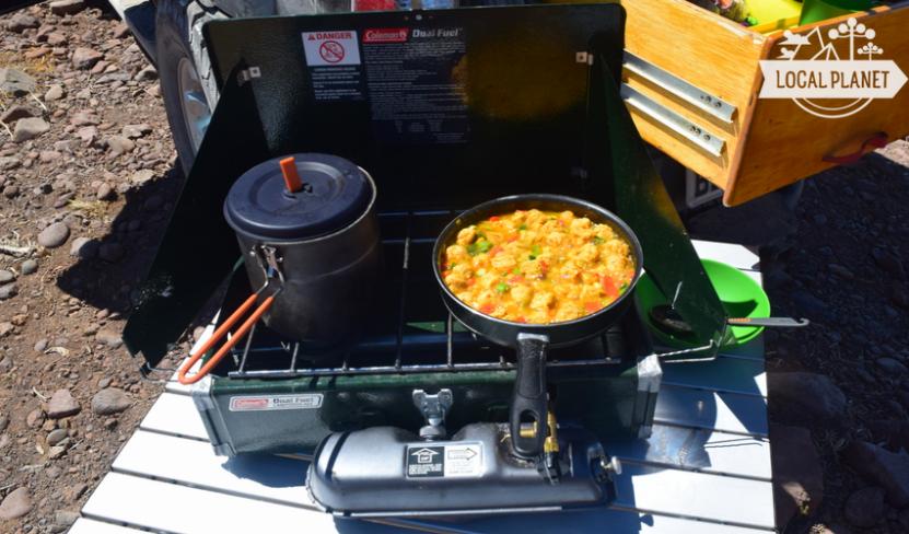 o que comer em acampamento - vegetariano e vegano