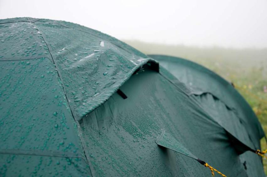 Barraca de acampamento impermeavel a chuva