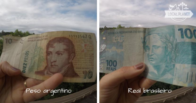 Moedas da tríplice fronteira: Peso argentino e Real brasileiro