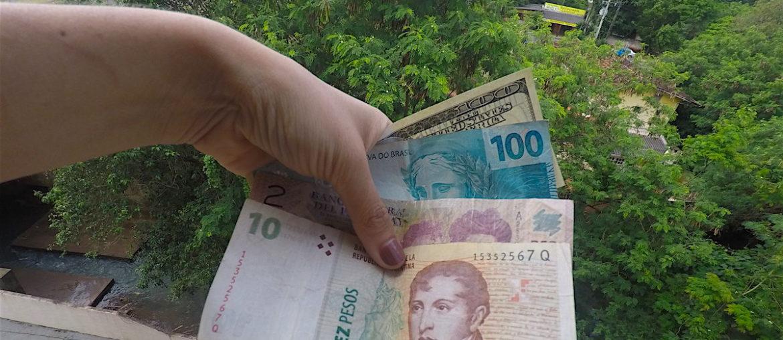 Moedas ou câmbio usados no Brasil, Paraguai e Argentina